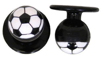 Exner Kugelknöpfe Fussball - 1 Pack mit 12 Stück