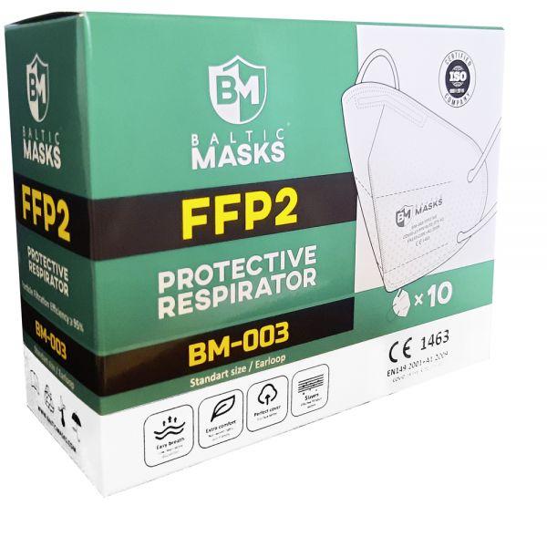 FFP2 Atemschutzmaske - Model: BM003 (10er Pack) | Baltic Masks