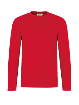 Herren Shirt langarm in Rot