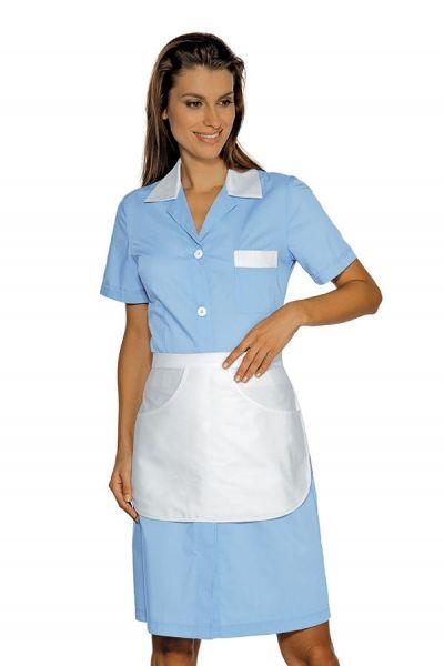 Zimmermädchenkleid hellblau mit Schürze Positano isacco