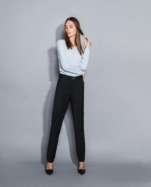 Exklusive Business Damen Hose modern fit - gerade geschnitten | Daniel Hechter TAILORED 41570