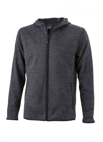 Herren Fleece Hoody dark-melange Tradition Daiber