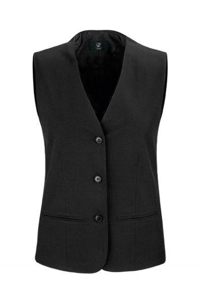 GREIFF - style 8220 Weste für Damen mit 3 Knopf Leiste in schwarz