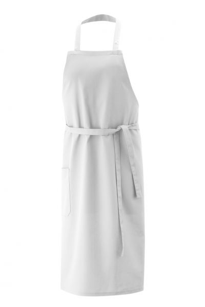 Exner Latzschürze 75x75 cm - 100% Baumwolle 230gr/m² - weiß