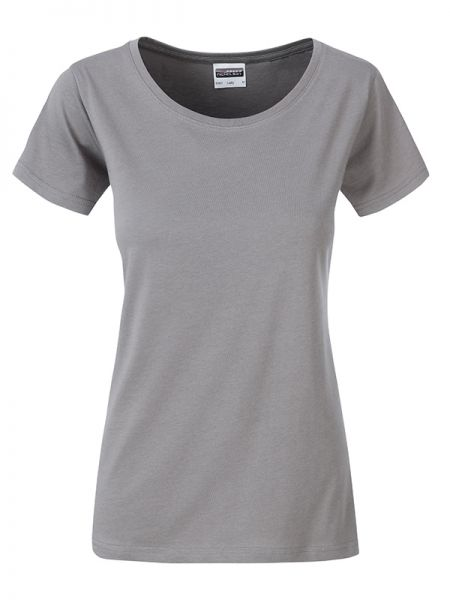Damen Shirt steel-grey Bio-Baumwolle Tradition Daiber