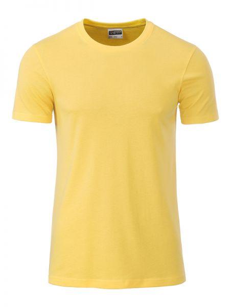 Herren Shirt hellgelb Bio-Baumwolle Tradition Daiber