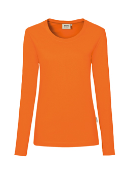 Damen Shirt langarm in Orange