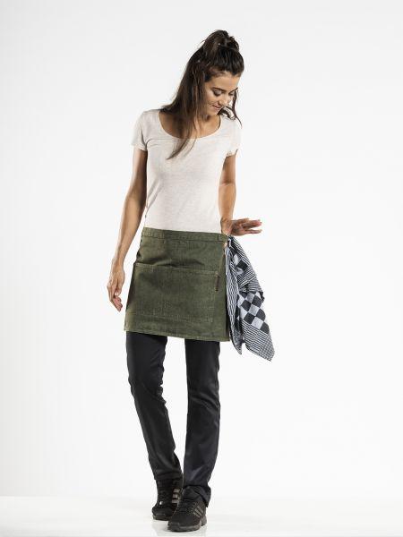 Jeans Schürze - Vorbinder 80 x 40 cm Green Denim