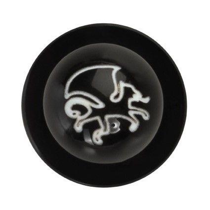 GREIFF - style 5900 Kugelknöpfe für Kochjacken - 12er Pack - Logo schwarz