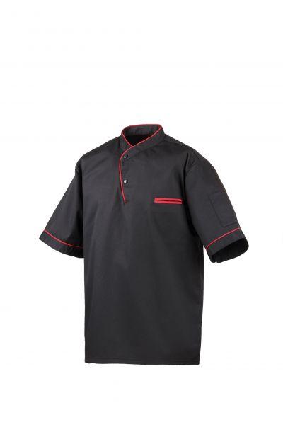 Exner Kochhemd halbarm in 2 Farben mit Paspel