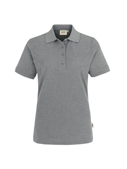 Damen Polo Performance in Grau meliert