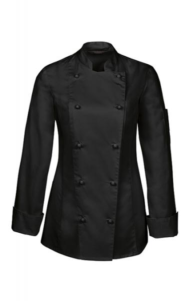 Kochjacke in Schwarz für Damen 5407 Abverkauf