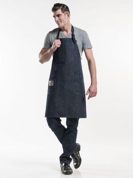 Jeans Schürze blue denim - Latzschürze 75 x 90 cm