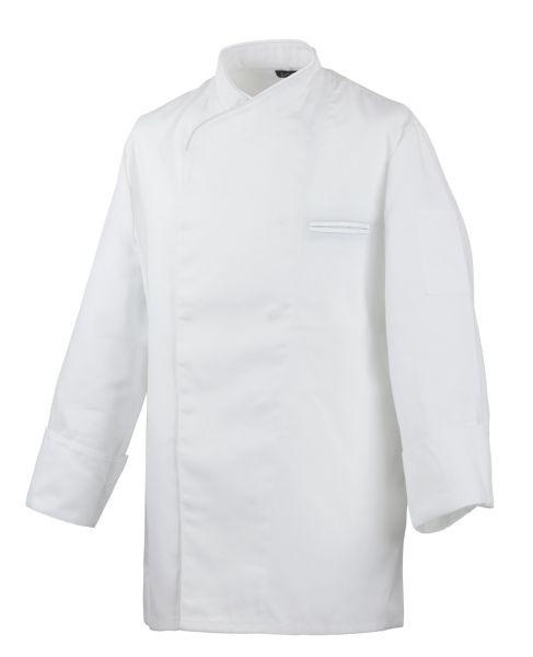 Exner Kochjacke weiß mit verdeckter Knopfleiste