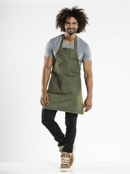 Jeans Schürze - Latzschürze 70 x 75 cm Green Denim