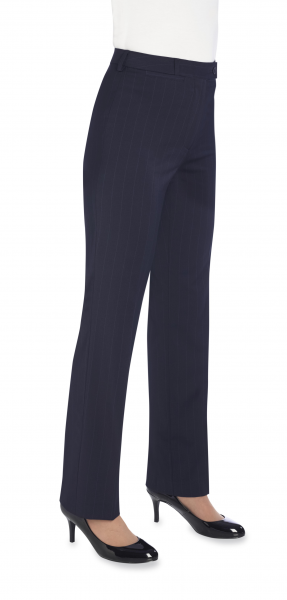 Damen Hose in Marine gestreift