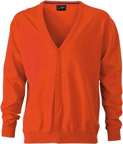 Herren Cardigan - orange