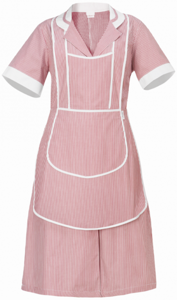 Latzschürze Leda - passend zum Hauskleid - bordeaux - Giblor´s