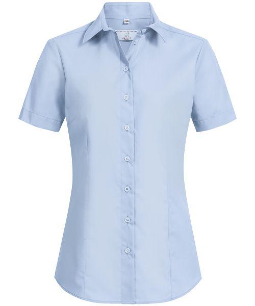 Damen Bluse regular fit Kurzarm 100% Baumwolle | GREIFF Basic 6529