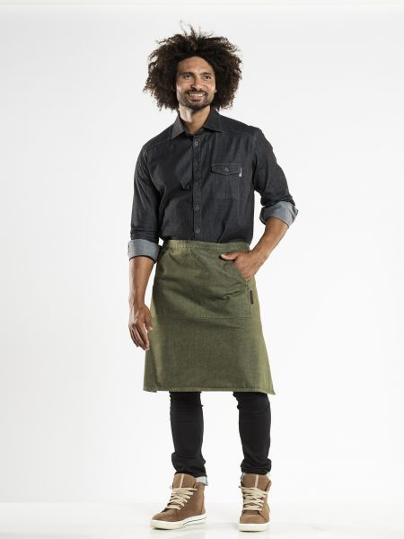Jeans Schürze - Bistroschürze 80 x 60 cm Green Denim