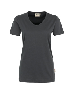 Damen Shirt in Anthrazit mit V-Ausschnitt