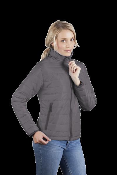 Wattierte Damen Jacke grau