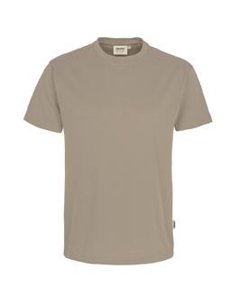 Herren Shirt in Khaki mit Rundhals-Ausschnitt