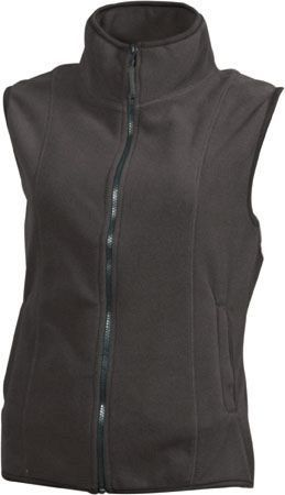 Damen Fleece Weste - dunkelgrau