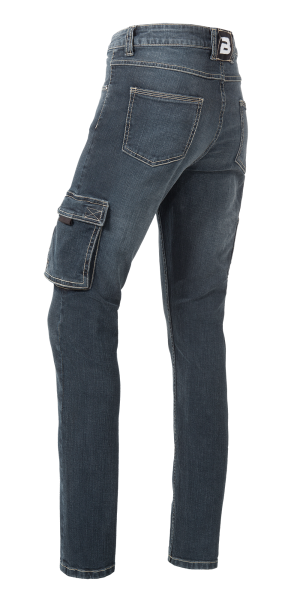 Damen Jeans Slim Fit in Blue Denim