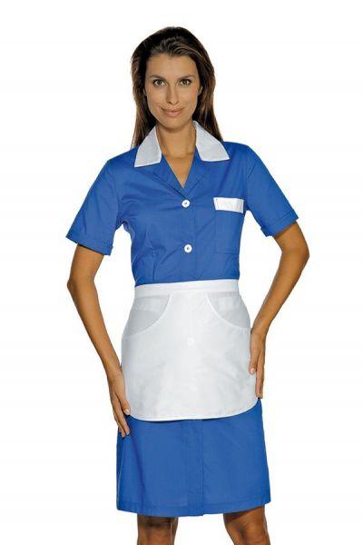 Zimmermädchenkleid blau mit Schürze Positano isacco