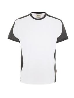 Herrenshirt in Weiß mit Kontrastensatz
