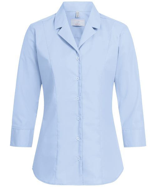 Strapazierfähige Damen Bluse regular fit 3/4-Arm Revers-Kragen | GREIFF Basic 6506