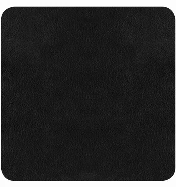 Bierdeckel aus Büffelleder - 4 Stück schwarz   654 94 EXNER