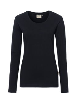 Damen Shirt langarm in Schwarz