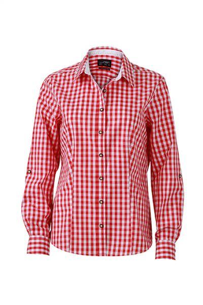 Damen Bluse red-white Tradition Daiber