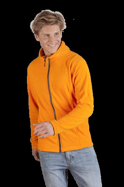 Herren Fleece Jacke orange