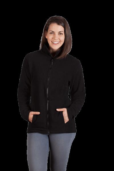 Damen Fleece Jacke schwarz