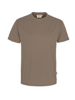 Herren Shirt in Nougat mit Rundhals-Ausschnitt