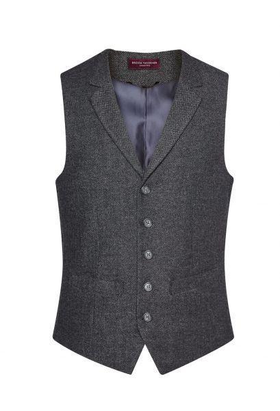 Herrenweste Tweed in Anthrazit