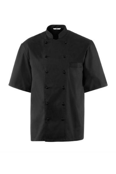 GREIFF - style 742 Kochjacke kurzarm in schwarz