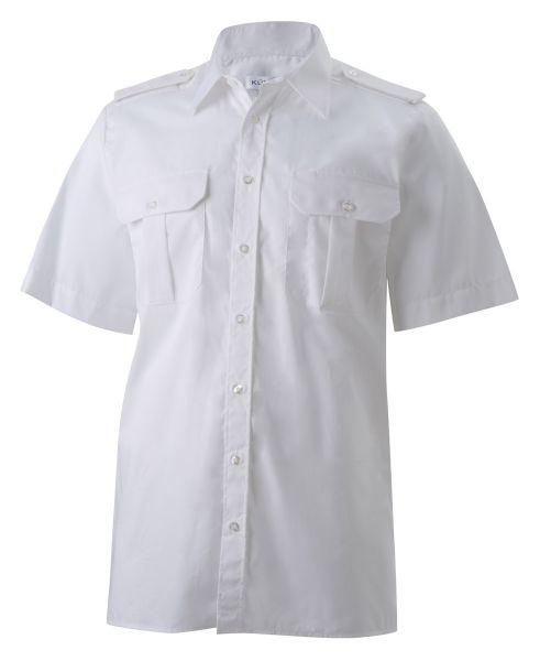 Herren Pilothemd weiß kurzarm classic fit Frank KÜMMEL