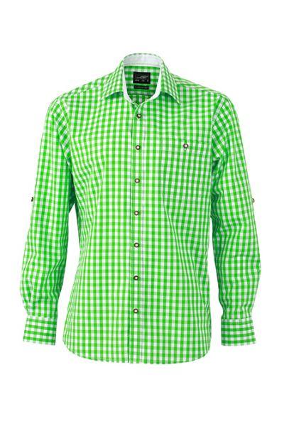 Herren Hemd green-white Tradition Daiber