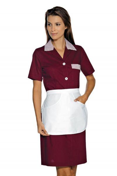Zimmermädchenkleid bordeaux mit Schürze Positano isacco