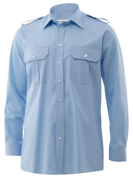 Herren Pilothemd blau classic fit langarm Howard KÜMMEL