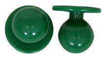 Exner Kugelknöpfe flaschengrün - 1 Pack mit 12 Stück