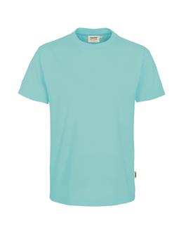 Herren Shirt in Eisgrün mit Rundhals-Ausschnitt