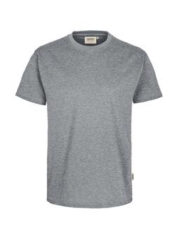 Herren Shirt in Grau meliert mit Rundhals-Ausschnitt