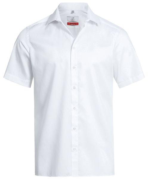 Business Herren Hemd regular fit weiss Kurzarm | GREIFF Premium 6763