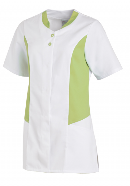Hosenkasack mit Kurzarm in Weiß/Hellgrün