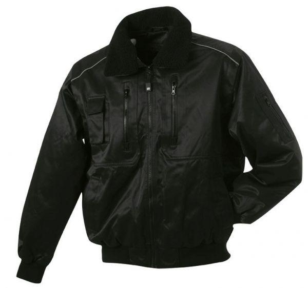 Piloten-Jacke - schwarz